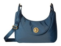 Baggallini Oslo Small Hobo Slate Blue Handbags