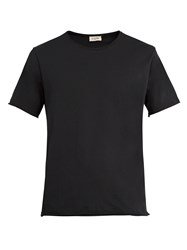 American Vintage Raw Edge Cotton T Shirt Black