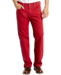Levi's Men's 569 Loose Fit Straight Leg Red Jeans