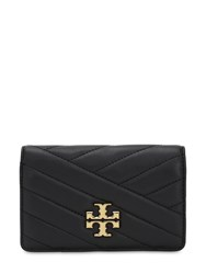 Tory Burch Slim Quilted Leather Wallet Black