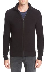 Belstaff Men's Parkgate Zip Front Mock Neck Sweater