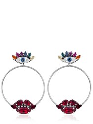 Anton Heunis Lips And Eyes Hoop Earrings