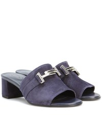 Tod's Suede Mules Blue