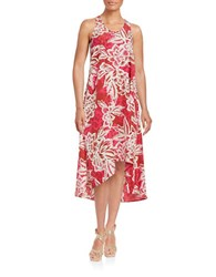 Lord And Taylor Tropical Hi Lo Dress Arabian Spice
