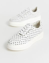Blink Lace Up Trainers White