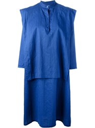 Jc De Castelbajac Vintage Layered Shirt Dress Blue