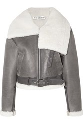 J.W.Anderson Jw Anderson Cropped Shearling Jacket Gray