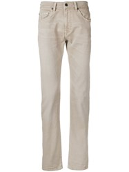 7 For All Mankind Slim Fit Jeans Neutrals