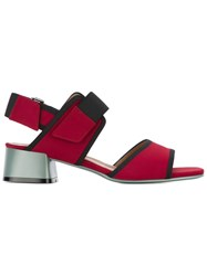 Marni Velcro Strap Sandals Red
