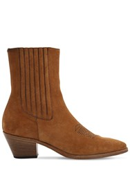 Zadig And Voltaire 40Mm Suede Ankle Boots Tan