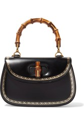 Gucci Bamboo Classic 2 Embellished Leather Tote Black