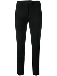 Dondup Slim Fit Cropped Trousers Black