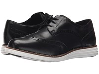 Cole Haan Original Grand Wingtip Black Optic White Women's Lace Up Wing Tip Shoes
