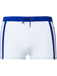 La Perla Tonal Fitted Swimming Shorts Blue
