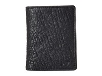 Will Leather Goods Flip Front Pocket Black Grey Wallet