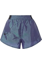 Nike Tempo Lux Pleated Dri Fit Shell Shorts Storm Blue