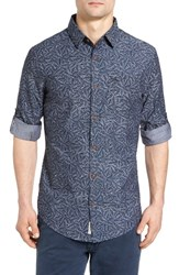 Original Penguin Men's Leaf Print Chambray Shirt