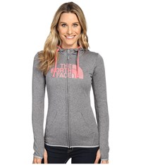 The North Face Fave Half Dome Full Zip Hoodie Tnf Medium Grey Heather Calypso Coral Multi Women's Sweatshirt Gray
