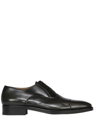 A.Testoni Vintage Effect Leather Oxford Shoes Grey
