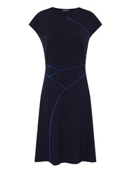 Hotsquash Summer Dress In Coolfresh Fabric Navy
