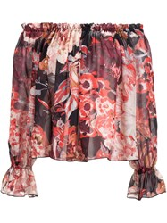 Elizabeth And James Floral Print Off Shoulder Blouse Multicolour