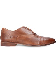 Kurt Geiger Oliver Leather Oxford Shoes Tan