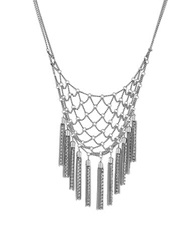 Bcbgeneration Bohemian Fringe Frontal Necklace Silver
