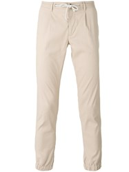 Paolo Pecora Tapered Trousers Men Cotton Linen Flax Spandex Elastane 48 Nude Neutrals