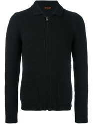 Barena Zip Up Cardigan Black