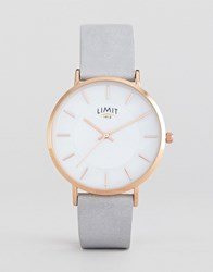 Limit Grey Faux Leather Watch Exclusive To Asos