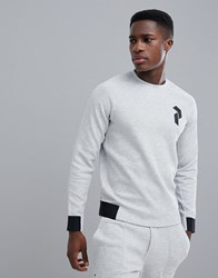 Peak Performance Tech Crew Neck Sweat In Grey Suit 1 M03 Grey Melange