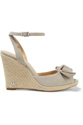 Michael Michael Kors Willa Suede Espadrille Wedge Sandals Gray