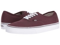 Vans Authentic Iron Brown True White Skate Shoes Burgundy