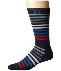 Smartwool Spruce Street Crew Deep Navy Heather Men's Crew Cut Socks Shoes