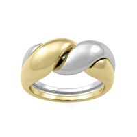 Monarc Jewellery The Two Tone Puzzle Ring 9Ct Gold And Sterling Silver