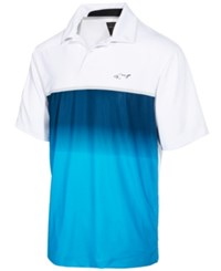 Greg Norman For Tasso Elba Men's Chest Stripe Performance Polo Only At Macy's Vivid Turq
