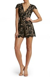 Dress The Population Women's Juliette Plunge Romper