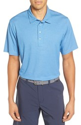 Travis Mathew Men's The Ten Year Polo Brilliant Blue Frost