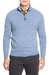 Men's Big And Tall John W. Nordstrom Quarter Zip Cashmere Sweater Blue Celestial