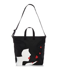 Lulu Guinness Romy Medium Kissing Cameo Tote Black