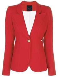 Smythe Single Breasted Blazer Red