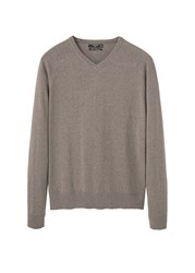 Mango Men's Cotton Cashmere Blend Sweater Grey