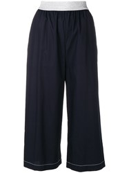 I'm Isola Marras Cropped Wide Leg Trousers Blue