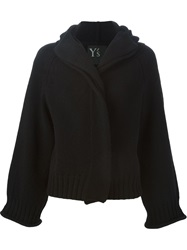 Y's Hooded Chunky Cardigan Black