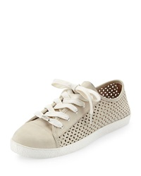 Magie Perforated Nubuck Low Top Sneaker Delman