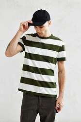 Cpo Bowers Rugby Stripe Pocket Tee Green