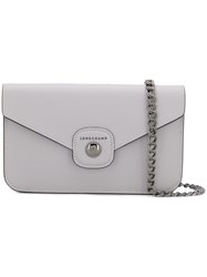 Longchamp Foldover Shoulder Bag Grey