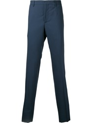 Cerruti 1881 Tailored Trousers Men Virgin Wool 46 Blue