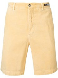 Pt01 Deck Shorts Men Cotton 44 Yellow Orange