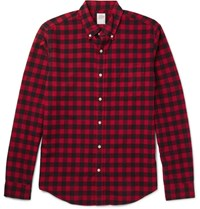 J.Crew Sli Fit Button Down Collar Checked Cotton Shirt Red